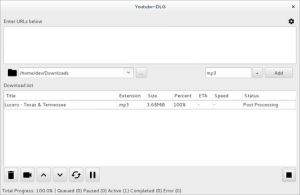 Vorschau des Video Downloaders youtube dl mit GUI